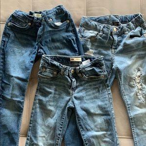 Lot of 3 Girls Denim Jeans